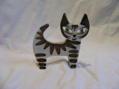 Upsala Ekeby Stylised Cat Dorothy Clough for Gefle Sweden | eBay