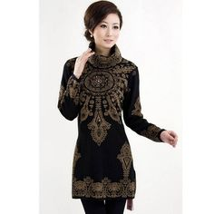 2015 Animal Embroidery Winter Women Dress Women's Loose Hedging Turtleneck Knitted Sweater Plus Size Clothing  Thickening Dress - http://www.aliexpress.com/item/2015-Animal-Embroidery-Winter-Women-Dress-Women-s-Loose-Hedging-Turtleneck-Knitted-Sweater-Plus-Size-Clothing-Thickening-Dress/32417875078.html