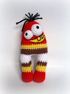 Crocheted Amigurumi UglyCute Monster by AllSoCute on Etsy,