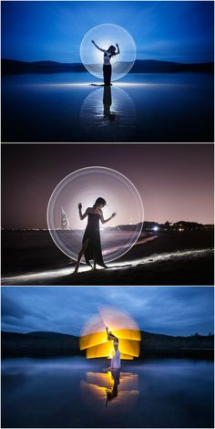 Light painter Eric Pare documents his world travels using massive, DIY glow sticks!