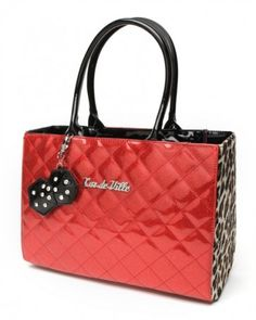 Lux de Ville Lucky Me Tote Red Sparkle & Leopard...just got this today!!!