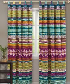 Look at this Southwest Curtain Panel - Set of Two on #zulily today!