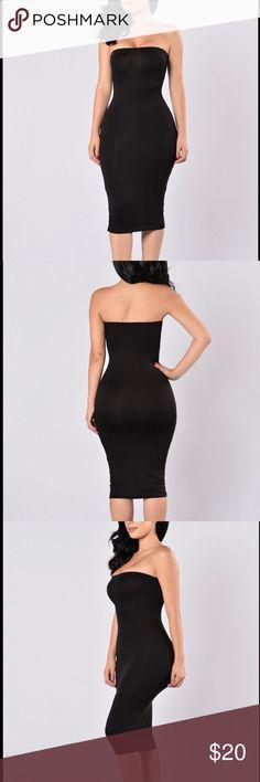 Fashion Nova Dress Fashion Nova Dress. Tube Dress Elastic Band Double Lined Made in USA 95% Rayon 5% Spandex Fashion Nova Dresses Midi