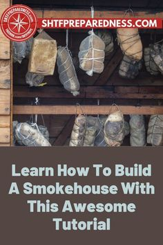 Learn how to build a smokehouse with this awesome tutorial on SHTF Preparedness. A smokehouse is a great addition to your homestead as you can cure meat or fish, which can then be stored for up to a year. Building a smokehouse can be an intimidating project to tackle, but it's doable. Our article considers numerous factors like fire safety, sturdiness, and food-safe materials. Read our full article and find the complete tutorial here. #BuildASmokehouse #Smokehouse #Survivalist #Prepper Garden Projects, Design Projects, Smokehouse, Fire Safety, Outdoor Entertaining, Safe Food, Frugal, The Cure, Home Improvement
