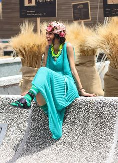 Women's street fashion pitti uomo