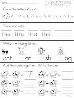 Worksheets Morning Worksheets For Kindergarten morning work kindergarten and learning on pinterest