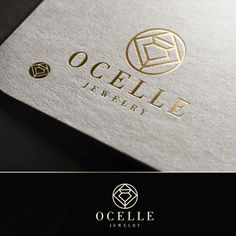 First concept of logo design for Ocelle Jewelry Store.