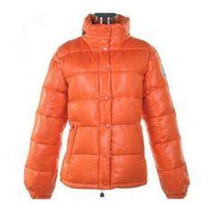 Moncler Badia Shiny Orange Jacket Women Online