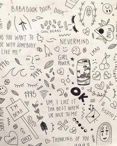 stick and poke tattoo Kritzelei Tattoo, Flash Tattoo, Doodle Tattoo, Doodle Drawings, Doodle Art, Tattoo Drawings, Necklace Tattoo, Ankle Tattoo, Mini Tattoos