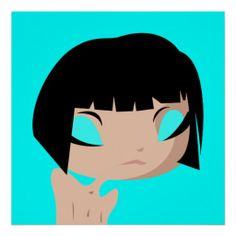 sad layla poster by emvee design . vector . illustrations . emo . girl . michelle vigil . cartoon