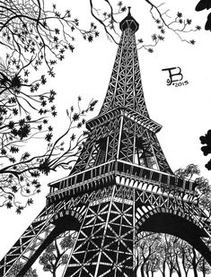 Eiffel Tower Painting, Eiffel Tower Art, Eiffel Tower Drawing, Mandala Art Lesson, Mandala Artwork, Taj Mahal Drawing, Eiffel Tower Photography, Paris Drawing, Cityscape Drawing
