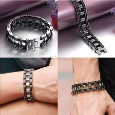 """NWOT Biker  chain link stainless steel men's NWOT Biker  chain link stainless steel men's. 8.2"""" length 0.33"""" width Jewelry Bracelets"""