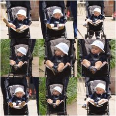 Prince George in stroller at Hyde Park