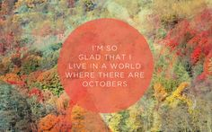 Octobers - Anne of Green Gables quote
