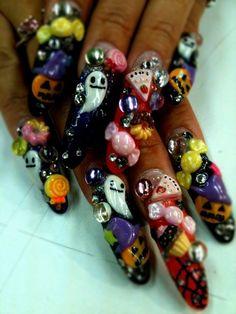 halloweeeen nail