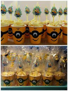 School Birthday Treats, Minion Birthday, Despicable Me Party, Minion Party, Cupcake Birthday Cake, Cupcake Cakes, Party Treats, Party Gifts, Pink Minion