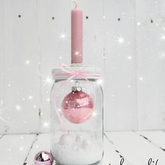 sphere in glass .- kugel im glas… kerzenhalter deko… sphere in glass … candleholder decoration … - Decoration Christmas, Noel Christmas, Pink Christmas, Xmas Decorations, Christmas And New Year, All Things Christmas, Winter Christmas, Christmas Crafts, Christmas Ornaments