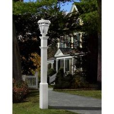New England Arbors Sturbridge White Lamp Post Only White 6 House Number, Outdoor Lamp Posts, New England Arbors, Outdoor Lighting, Outdoor Decor, Exterior Lighting, Outdoor Ideas, Outdoor Projects, Outdoor Rooms