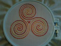 One more embroidered labyrinth!
