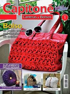 Capitone Carteras y Bolsos ЖурнаРSmocking Tutorial, Heirloom Sewing, Bargello, Fabric Manipulation, Knitted Bags, Cross Stitch Embroidery, Straw Bag, Gym Bag, Sewing Crafts