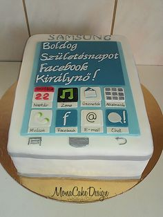 Samsung phone cake Different Cakes, Hello Hello, Samsung Mobile, Dessert Decoration, Dinosaur Birthday, Themed Cakes, Telephone, Birthday Cakes, Cake Ideas