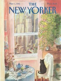 The New Yorker cover March 1, 1982 by Jean-Jacques Sempé