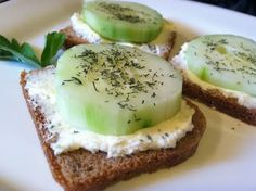 A Healthy Jalapeno: Mini Cucumber Sandwiches on Rye
