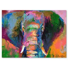 "Trademark Art ""Elephant 2"" by Richard Wallich Painting Print on Wrapped Canvas & Reviews 