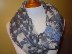 Long Soft wrap Lady Shawl Pretty fashion spring scarf by NKnitting, $18.50