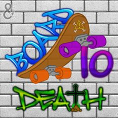 Digital image created for BoredToDeath Skateboard Accessories. Hardware. Clothing