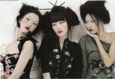 Geisha updo black hair