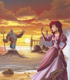 magnifique (ariel,the little mermaid,prince eric,disney) Princesa Ariel Disney, Disney Princess Ariel, Disney Princess Pictures, Princess Art, Disney Pictures, Disney Girls, Disney Cosplay, Disney Nerd, Disney Fan Art