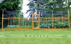*This is an amazing well planned raised bed garden that is deer & bird proof. it is chronicled & put up green fencing. also, put up 2 netted roofs (i am definitely doing this), 1 effective for(Diy Garden Fence) Backyard Vegetable Gardens, Veg Garden, Garden Fencing, Edible Garden, Garden Landscaping, Fenced Garden, Herb Gardening, Gardening Vegetables, Flower Gardening