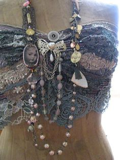Smoke top with Angel necklace by AllThingsPretty, via Flickr