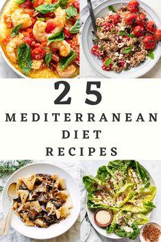 Easy Mediterranean Diet Recipes, Mediterranean Dishes, Clean Eating Diet Plan, Healthy Eating, Healthy Food Options, Healthy Recipes, Green Diet, Mind Diet, Greens Recipe