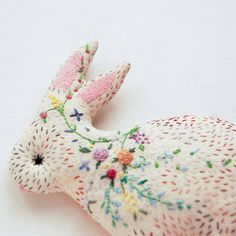 Adorable embroidered bunny