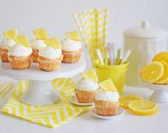 REB´S KITCHEN: citrónové kapkejky s tvarohovým krémom a kúskami bielej čokolády