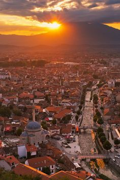 Kosovo sunset