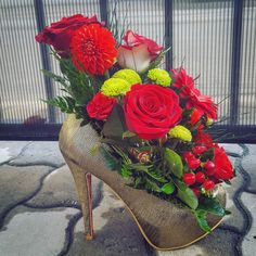 Flowers in shoes