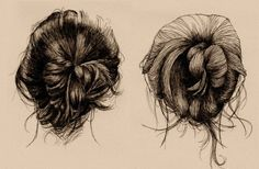 Messy updos.