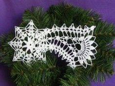 Vánoční ozdoba, vločka č.16 Crochet Christmas Decorations, Christmas Crochet Patterns, Crochet Christmas Ornaments, Christmas Snowflakes, Christmas Angels, Christmas Crafts, Crochet Snowflake Pattern, Crochet Snowflakes, Crochet Motif