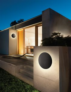 DESIGN: A slightly curved or trapezoid shade appearing to float over a radiating light. Ideal for interior and exterior ADA-compliant applications whether there is one or many Exterior Lighting, Outdoor Lighting, Lighting Ideas, Eureka Lighting, Iris, Indoor Wall Sconces, Interior And Exterior, Indoor Outdoor, Shades