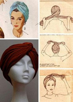 Hijab Tutorial Missoni doin the turban thing right now too like its new or something but ok. Not all Yall can pull this look off…. Hijab Tutorial Source : Missoni doin the turban thing. Turban Mode, Turban Hijab, Hair Turban, Turban Headbands, How To Wear Hijab, Curly Hair Styles, Natural Hair Styles, Head Scarf Styles, Hijab Tutorial