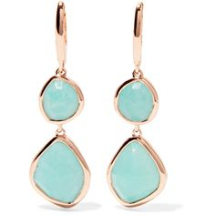 Monica Vinader Siren rose gold vermeil amazonite earrings ($305) ❤ liked on Polyvore featuring jewelry, earrings, monica vinader jewellery, monica vinader earrings, rose jewelry, vermeil earrings and polish jewelry