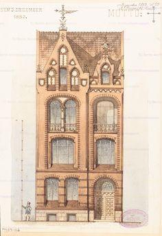 Städtisches Wohnhaus. Monatskonkurrenz Dezember 1883 | Saran, Richard
