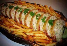 Életmód cikkek : CSIRKEMELL ŐZGERINCBEN RECEPT Baked Potato, Asparagus, Sushi, Bacon, Pork, Potatoes, Chicken, Vegetables, Ethnic Recipes