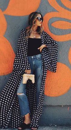 Fashion Casual Hijabi Jeans 38 New Ideas Look Fashion, Fashion Outfits, Womens Fashion, Funky Fashion, Jeans Fashion, Casual Outfits, Summer Outfits, Cute Outfits, Mode Kimono