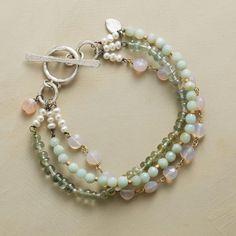 Handcrafted Pastel Gemstone Bracelet