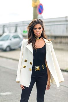 <p>Sara Sampaio was my favorite off-duty model to shoot outside the shows. These are the moments when street style photography feels just too good to be true. And then in the next few seconds, 20 photographers jump in front of you and the spell is broken. <span></span></p>