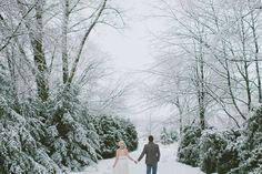 Intimate winter wedding.